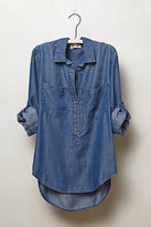 Anthropologie Chambray Popover