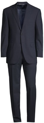 Canali Impeccabile High Performance Fabric Classic-Fit Wool Plaid Suit