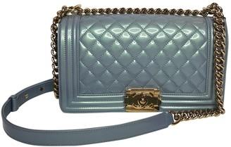 Chanel Boy Blue Patent leather Handbags