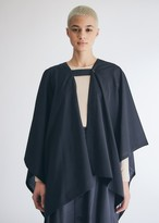 Engineered Garments Women's Button Stole in Dark Navy Tropical Wool