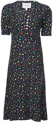 HVN lola dress multicolor