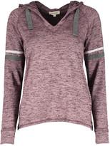Urban Diction Women's Sweatshirts and Hoodies Mauve - Mauve Hacci V-Neck Hoodie - Women