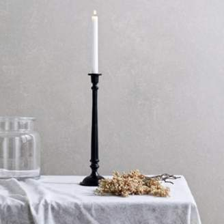The White Company Black Tall Dinner Candlestick , Black, One Size