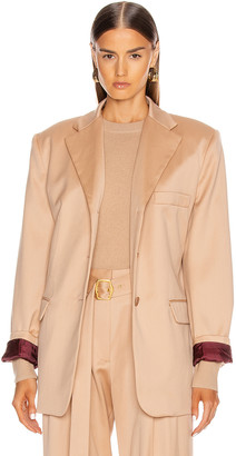 Sies Marjan Molly Oversized Blazer Jacket in Soba | FWRD
