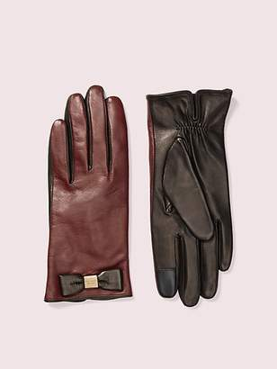 Kate Spade Leather Bow Tech Gloves