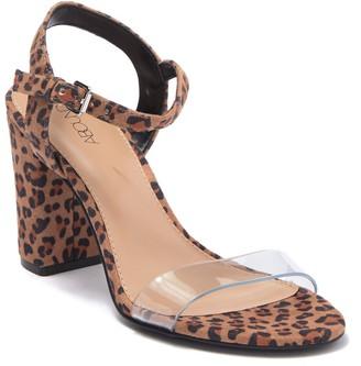 Abound Steph Leopard Print Clear Strap Sandal