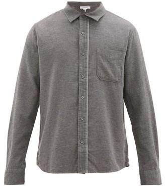 Frame Brushed Cotton-flannel Shirt - Grey
