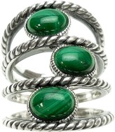 Elyse Ryan Sterling Gemstone Station Wrap Ring