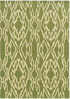 Linon LeSoleil Rug In Green And Ivory 1.10 x 2.10 - 5 x 7