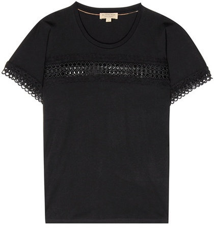 Burberry Marnel lace-trimmed T-shirt