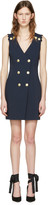 Pierre Balmain Navy Double-breasted Dress