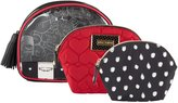 Betsey Johnson Shell 3 Piece Cosmetic Case Set