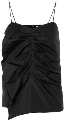 Victoria Victoria Beckham Ruched cotton tank top