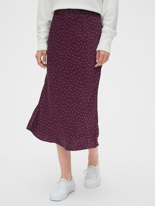Gap Satin Midi Skirt