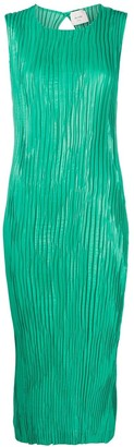 Alysi Pleated Midi Dress
