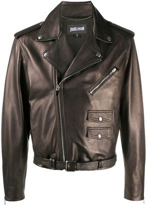 Just Cavalli Classic Biker Jacket