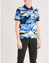 Sandro Camouflage-print cotton-pique polo shirt