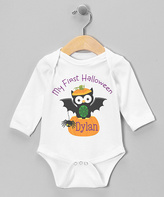 Black Owl 'My First Halloween' Personalized Bodysuit - Infant