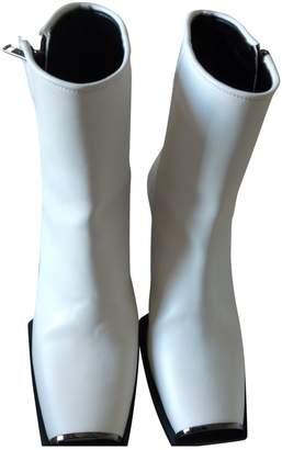 Stella McCartney Stella Mc Cartney White Patent leather Ankle boots