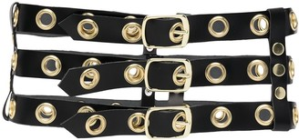 Manokhi Eyelet-Detail Leather Belt