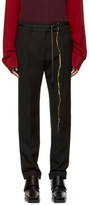 Haider Ackermann Black Embroidered Classic Trousers