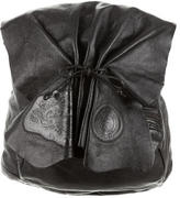 Carlos Falchi Leather Butterfly Backpack