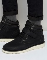 Brave Soul Lace Up Boots With Sherpa Lining Black