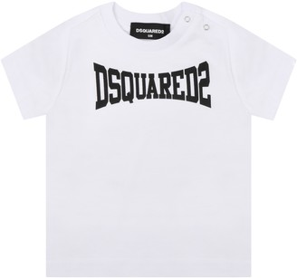 DSQUARED2 White T-shirt For Babyboy With Logo