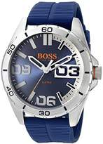 HUGO BOSS BOSS Orange Men's 1513286 berlin Analog Display Quartz Blue Watch