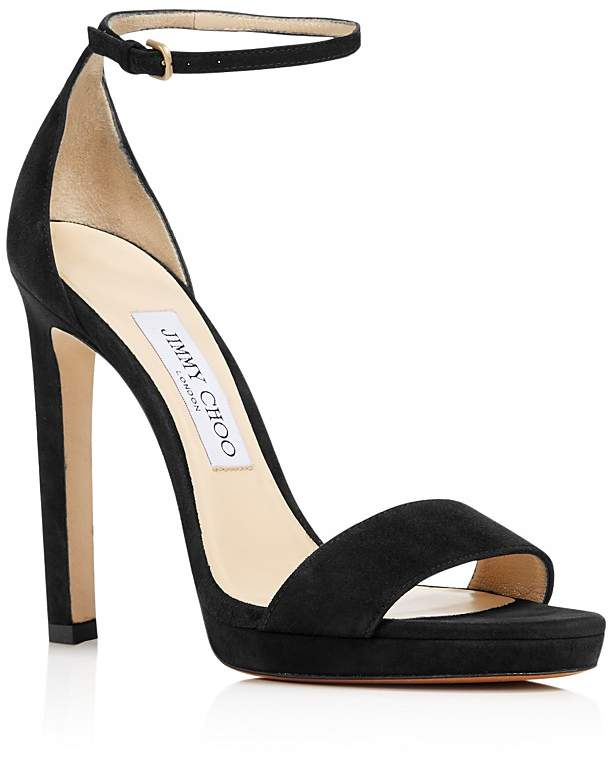 Jimmy Choo Women's Misty 120 Suede High-Heel Platform Sandals