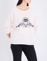 Wildfox Couture Silver Screen Kitten fleece sweatshirt