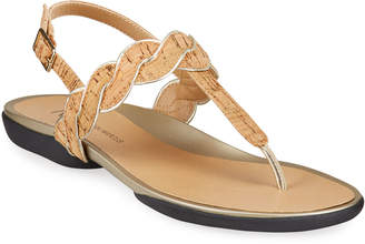 Neiman Marcus Waneta Cork Thong Sandal