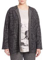 Marina Rinaldi, Plus Size Mottled Virgin Wool Blend Jacket