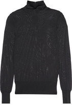 DKNY Stretch-Knit Turtleneck Top