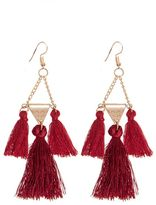 Quiz Wine Tassel Earrings