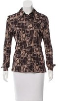 Celine Printed Button-Up Top