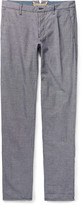 Incotex - Slim-fit Gingham Linen And Cotton-blend Trousers