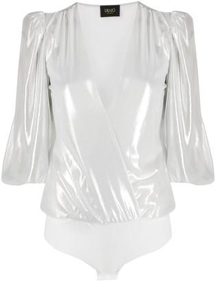 Liu Jo Bell Sleeve Plunge Bodysuit