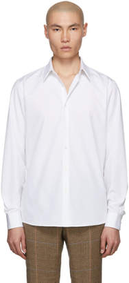 Dries Van Noten White Curley Classic Shirt