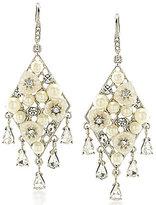 Carolee Mother-of-Pearl Statement Chandelier Earrings