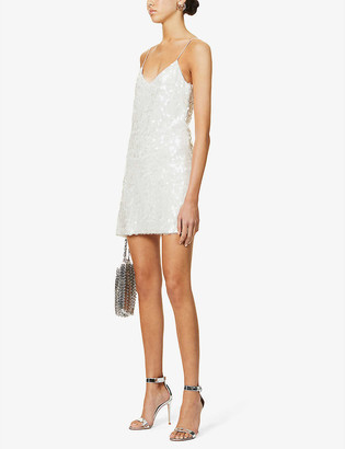 Galvan Mustique sequin-embellished mini dress