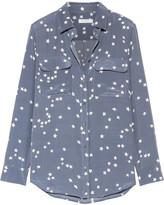 Equipment Slim Signature Printed Washed-silk Shirt - Storm blue