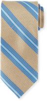 Peter Millar Striped Silk Tie, Khaki