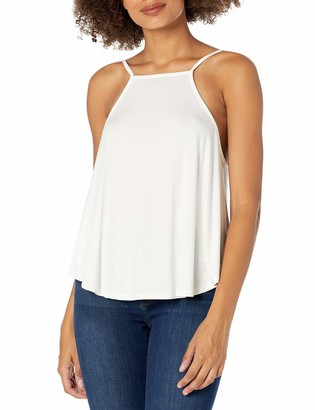 LIRA Women's Solid High Neck Super Soft Tank Top