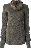 Maurizio Pecoraro draped roll neck sweater