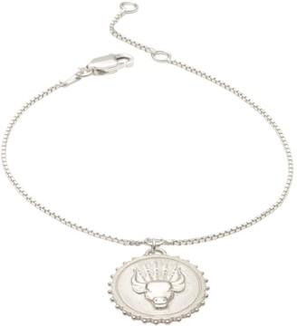 Rachel Jackson London Zodiac Art Coin Taurus Bracelet Silver