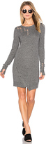 Pam & Gela Shredded Dress in Gray. - size M (also in )