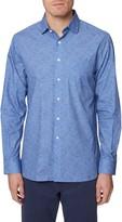 Hickey Freeman Metropolitan Floral Button-Up Shirt