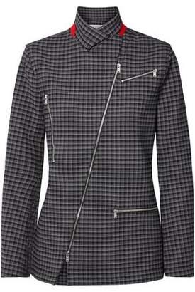 Sonia Rykiel Zip-detailed Checked Tweed Jacket