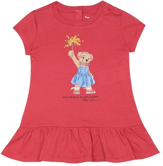 Polo Ralph Lauren Kids Baby Polo Bear cotton dress and bloomers set